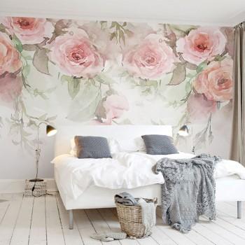 پوستر دیواری گل های رُز آبرنگی مدل BCW404-1