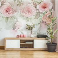 پوستر دیواری گل های رُز آبرنگی مدل BCW404-3