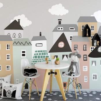پوستر دیواری کودک شهر رویایی مدل BKW003-1