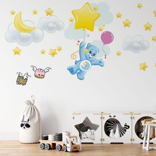 پوستر دیواری کودک خرس مهربان مدل BKW007-1
