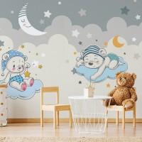 پوستر دیواری کودک خرس های خوابالو مدل BKW008-3