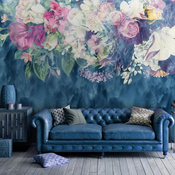 پوستر دیواری گل های رویایی مدل BCW277-1