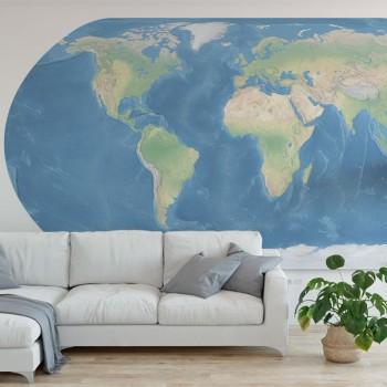 پوستر دیواری نقشه جغرافیایی جهان مدل BCW602-1