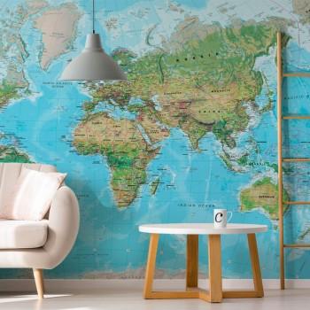 پوستر دیواری نقشه اطلس جهان مدل BCW603-1