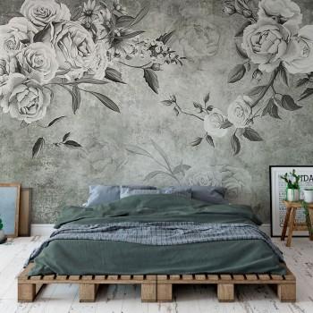 پوستر دیواری گل رز وینتیج مدل BCW594-1