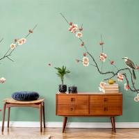 پوستر دیواری بلبل و شکوفه مدل BCW438-1