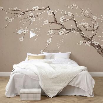 پوستر دیواری تک درخت بهاری مدل BCW469-1