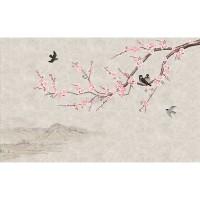 پوستر دیواری شکوفه های صورتی مدل BCW468-2