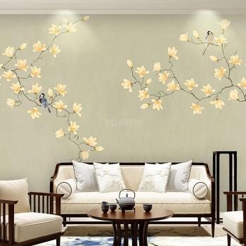 پوستر دیواری گل های زرد مدل BCW467-1