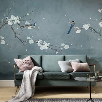 پوستر دیواری آسمانی پر از شکوفه مدل BCW452-1