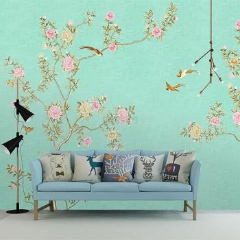 پوستر دیواری شاخه های درخت زرین مدل BCW451-1