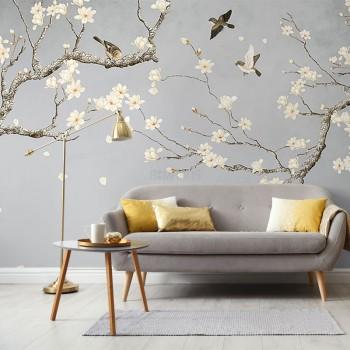 پوستر دیواری بزم شکوفه ها مدل BCW437-1