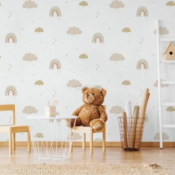 پوستر دیواری کودک رنگین کمان مدل BKW207-1