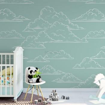 پوستر دیواری کودک سرزمین ابر ها مدل BKW210-1