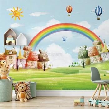 پوستر دیواری کودک دهکده شادی مدل BKW211-1