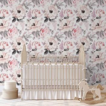 پوستر دیواری کودک گل های بهاری مدل BKW220-1