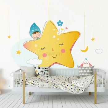 پوستر دیواری کودک ستاره های آویز مدل BKW223-1