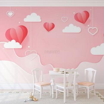 پوستر دیواری کودک آسمان مهربانی مدل BKW224-1