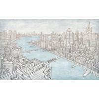 پوستر دیواری شهری بر کرانه آب ها مدل BCW553-2