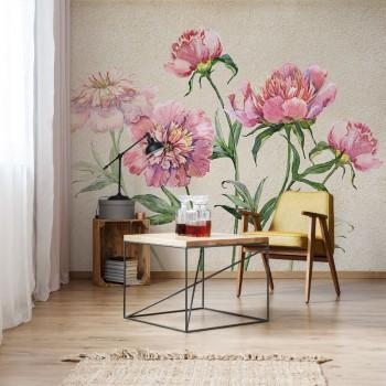 پوستر دیواری گل پائونیا مدل BCW270-1