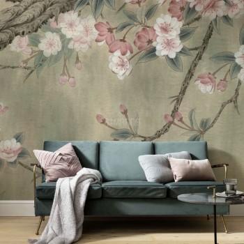 پوستر دیواری شکوفه های بادام مدل BCW499-1