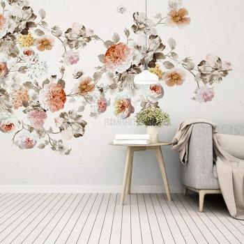 پوستر دیواری گل های بهاری مدل BCW566-1