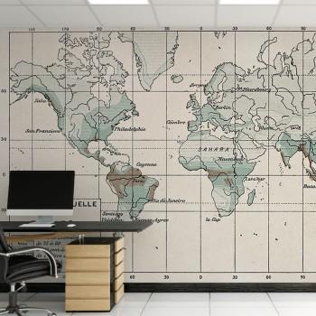 پوستر دیواری نقشه جهان مدل BCW393-1