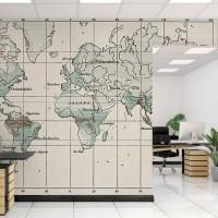 پوستر دیواری نقشه جهان مدل BCW393-3