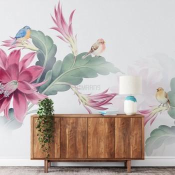 پوستر دیواری پرنده های رنگارنگ مدل BCW546-1