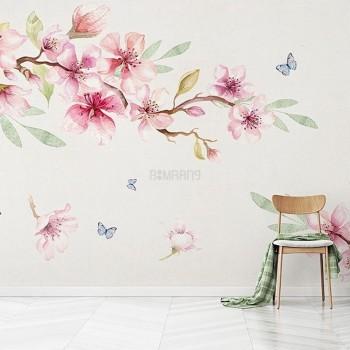 پوستر دیواری شکوفه های رقصان مدل BCW559-1