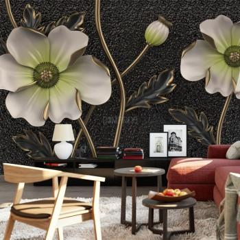 پوستر سه بعدی گل های زینتی مدل BCW112-1