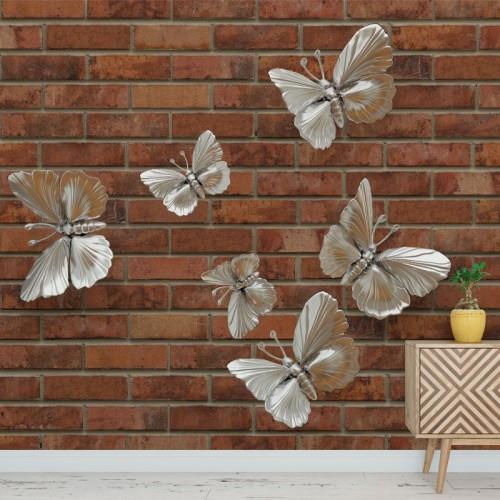 پوستر سه بعدی پروانه های نقره ای مدل BCW011-1
