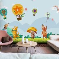 پوستر دیواری کودک بالن های رنگارنگ مدل BKW016-1