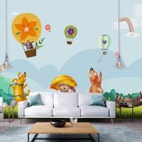 پوستر دیواری کودک بالن های رنگارنگ مدل BKW016-3