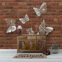 پوستر سه بعدی پروانه های نقره ای مدل BCW011-3