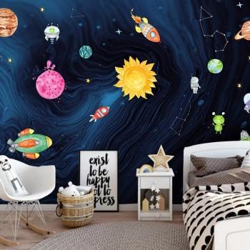 پوستر دیواری کودک جشن آسمانی مدل BKW078-1