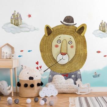 پوستر دیواری کودک شیر شناگر مدل BKW083-1