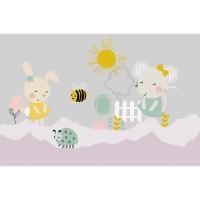 پوستر دیواری کودک موش و خرگوش مدل BKW062-2