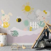 پوستر دیواری کودک موش و خرگوش مدل BKW062-3