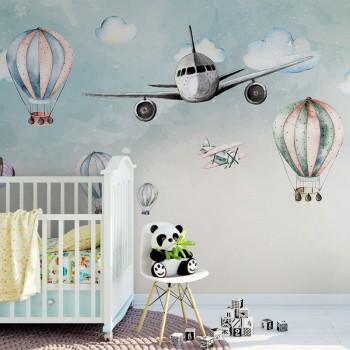 پوستر دیواری کودک رویای پرواز مدل BKW097-1