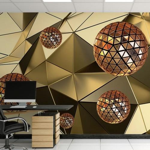 پوستر سه بعدی مثلثهای طلایی مدل BCW014-1