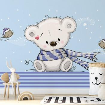 پوستر دیواری کودک خرس پشمالو مدل BKW039-1