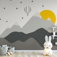 پوستر دیواری کودک کوهستان آفتابی مدل BKW085-1