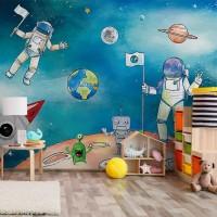 پوستر دیواری کودک آدم فضایی مدل BKW178-1