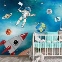 پوستر دیواری کودک آدم فضایی مدل BKW178-3