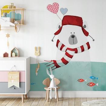 پوستر دیواری کودک دریاچه ی زیبا مدل BKW160-1
