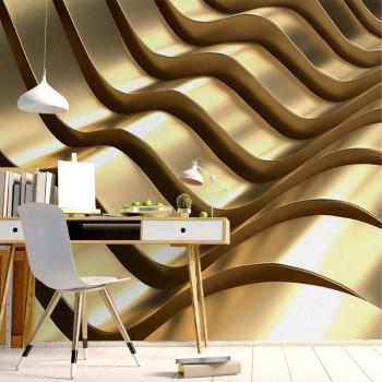 پوستر سه بعدی امواج طلایی مدل BCW017-1
