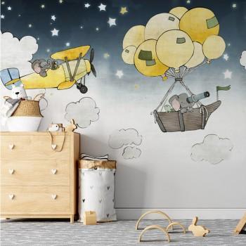 پوستر دیواری کودک سفر حیوانات مدل BKW123-1