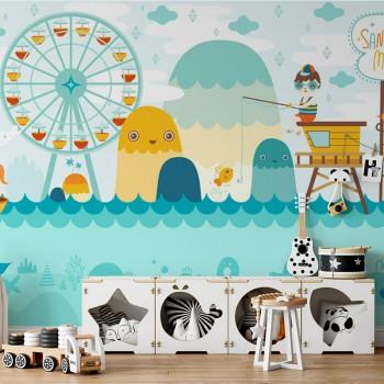 پوستر دیواری کودک شهر بازی قصه ها مدل BKW125-1