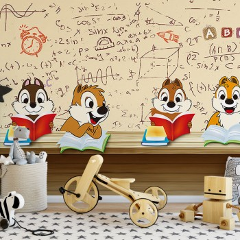 پوستر دیواری کودک مدرسه ی سنجاب ها مدل BKW124-1